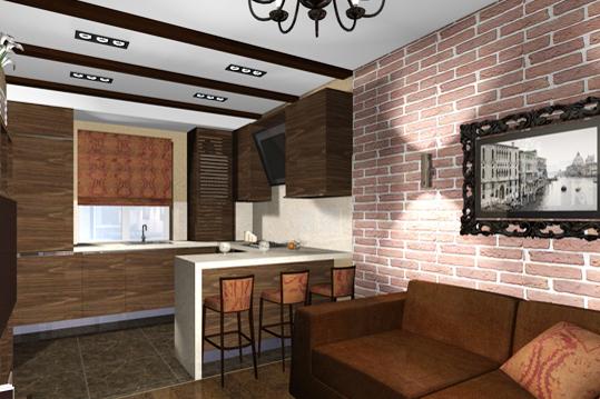 Дизайн кухни-гостиной в малогабаритной квартире